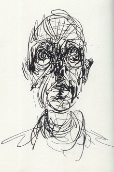 Wire self portrait project (alberto giacometti, ralph westerhof Alberto Giacometti, Blind Drawing, Gesture Drawing, Painting & Drawing, Pencil Portrait, Portrait Art, Drawing Portraits, Scribble Art, Dark Art Drawings