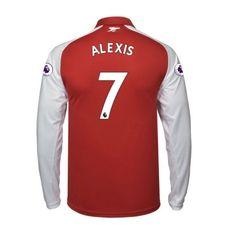 Arsenal Alexis Sanchez 7 Koszulka Podstawowych 2017-2018 Długi Rękaw