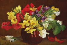 Spring Flowers : Stefan Luchian : circa 1907 : Art Print Suitable for Framing Art Prints For Sale, Wall Art Prints, Fine Art Prints, Poster Prints, Art Floral, Flower Artists, Photo Images, Thing 1, Art Database