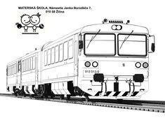 Výsledek obrázku pro omalovánky vlaky