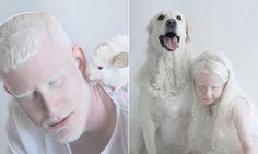 """A fotógrafa e designer gráfica Yulia Taitscostuma brincar bastante com o Photoshop em seus trabalhos, mas, quando decidiu fazer um ensaio com pessoas albinas, percebeu que não precisaria de nenhum tipo de retoque para mostrar toda a beleza delas.  """"Fazia tempo que eu tinha a ideia para este projeto. A beleza única dos albinos me hipnotiza..."""