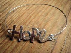 Hope Bangle BCA Bangle Hope bracelet Breast by MicheladasMusings, $7.50