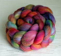 SALE: Merino Wool Roving Hand Painted Felting or Spinning Spinning Wool, Spinning Wheels, Yarn Inspiration, Wool Art, Yarn Bombing, Tear, Yarn Colors, Colours, Craft Stick Crafts