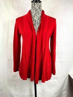 78f7187ed3eb36 Zara Knit Women s Red Open Front Cardigan Size M Long Sleeve Viscose Blend  1060  Zara