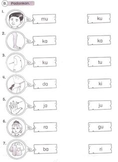 bahasa melayu worksheet for preschool . worksheet for bahasa melayu Senses Preschool, Preschool Writing, Preschool Learning Activities, Preschool Printables, Teaching Kids, Learning Resources, Cognitive Activities, Preschool Crafts, Kids Learning