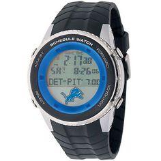 Detroit Lions Mens Schedule Wrist Watch