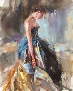 Silky Drapes | Painting by Anna Razumovskaya