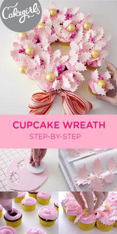Step x Step Cupcake Wreath | Cakegirls Projects