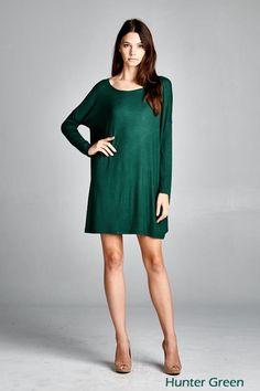 hunter green dress from RoeBlvd.com