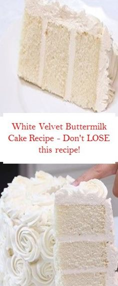 White Velvet Buttermilk Cake Recipe – Don't LOSE thіѕ recipe! Sweet Recipes, Cake Recipes, Dessert Recipes, Baking Recipes, Breakfast Recipes, Healthy Recipes, Just Cakes, Cakes And More, Easy Icing Recipe