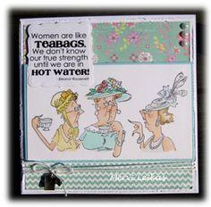 Art Impressions Rhonda and The Hatta Girls > Hatta Girls (Sku#T2782) Humorous handmade card.