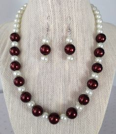 Brown Pearl Necklace Chocolate Brown Wedding by CherishedJewelryCo, $26.00