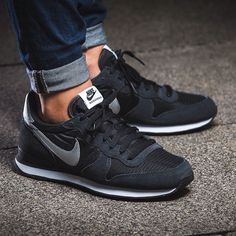 hot sale online 0cba3 bc0ab womens black nike internationalist trainers - Google Search Nike Shox, Nike  Flyknit, Nike Huarache