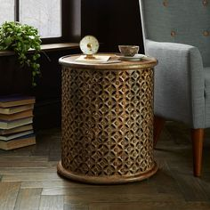Carved Wood Side Table - OUT OF STOCK - Ugh!  I would've loved this table!  ;-(