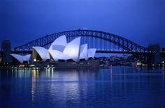 Sydney Opera House - climbed the Sidney Bridge! Beautiful.