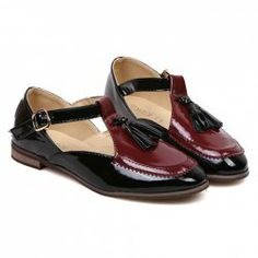 $12.84 Vintage Style Women's Flat Shoes With Tassels and Color Matching Design