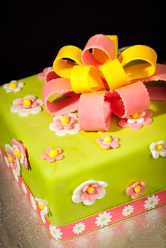 Lunds and Byerly's   - Packages and Bows -    Another fun fondant collection of bright colored cakes. Instead of stacking, try arranging in a group.