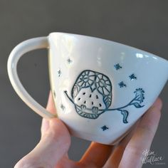 This gorgeous porcelain cup is a part of the Bush Prints Collection, a collaboration between artist & illustrator Renée Treml and myself, inspired by our love for Australian wildlife.  Measures approx 9.5cm in diameter x 7cm high and holds around 180ml.  Each cup is handmade in my Sunshine Coast studio from beautiful Australian porcelain. Renée's illustrations are impressed in the clay, coloured by hand and finished with a food-safe, clear glaze.  Choose from a series of very cute Aus...