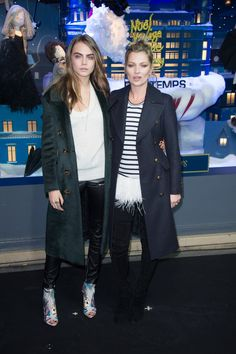Pin for Later: Cara, Kate, and Cheryl Kick Off Christmas in Europe Cara Delevingne and Kate Moss