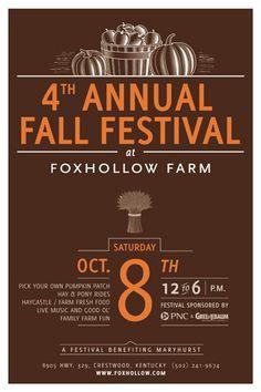 Fall Festival Flyer EVENT POSTER Community by DitDitDigital ...