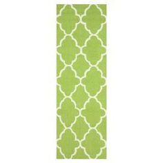"""Create a bold focal point in any space with this hand-hooked wool rug, showcasing a trellis motif in green.    Product: RugConstruction Material: 100% WoolColor: GreenFeatures: Hand-hookedDimensions: 2'6"""" x 8' Note: Please be aware that actual colors may vary from those shown on your screen. Accent rugs may also not show the entire pattern that the corresponding area rugs have.Cleaning and Care: These rugs can be spot treated with a mild detergent and water. Professional cleaning is…"""
