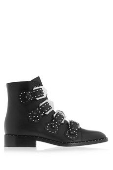 Givenchy Elegant studded ankle boots in black leather | NET-A-PORTER