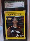 1991 Fleer Luis Gonzalez Houston Astros #507 Rookie Card SGC 92 NM/MT+ 8.5