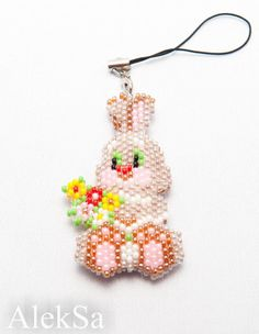 Beaded Easter Bunny front Pattern