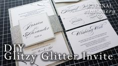 HOW TO: DIY Glizy Glitter Belly Band Invitation