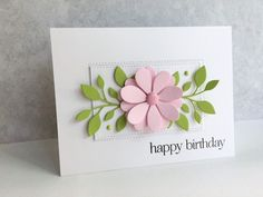 I decided to make another card using the Poppy Stamps Massa Leaf Background die I got a couple weeks ago...I love these leaves!! I combi...