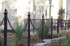"72"" Boston Garden Posts with Landscape Chain"