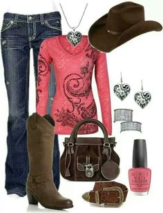 A fashion look from January 2013 featuring MEK DNM jeans, Dune boots and Buti tote bags. Browse and shop related looks. Country Girl Outfits, Country Fashion, Cowgirl Outfits, Western Outfits, Western Wear, Country Girls, Cowgirl Style, Western Style, Estilo Fashion