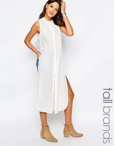 Vero Moda Tall Collarless Side Split Top
