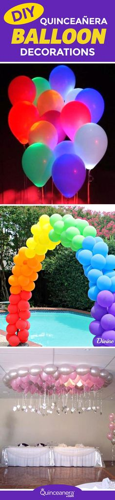 So invite your besties for a sleepover to create the most amazing DIY quinceanera balloon decorations! They are inexpensive and will bring the fun to your party, guaranteed. - See more at: http://www.quinceanera.com/diy/easy-diy-quinceanera-balloon-decorations/?utm_source=pinterest&utm_medium=social&utm_campaign=easy-diy-quinceanera-balloon-decorations#sthash.4DqgOu1C.dpuf