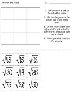 Estimating Square Root Scaffolded Worksheet with Answers | Square ...