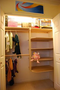 closet organization DIY Shelves