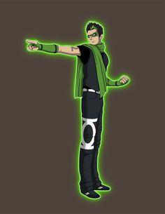 Kyle Rayner Concept -Young Justice by *Jarein on deviantART. Let's make it happen. Green Lantern Hal Jordan, Green Lantern Corps, Green Lantern Cosplay, Green Superhero, Kyle Rayner, Old Lanterns, Nerd Love, Black Mask, Young Justice