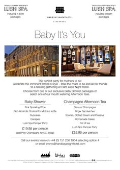 Baby It's You- Baby Shower Package! at Hard Days Night Hotel - Liverpool - Client