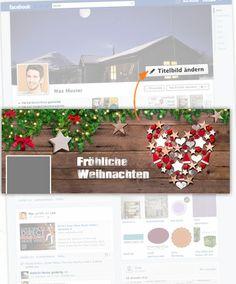 """Mit dem weihnachtlichen OBI Titelbild Facebook Freunden ganz einfach ein """"Frohes Fest!"""" wünschen. Einfach runterladen und im eigenen Profil einstellen."""