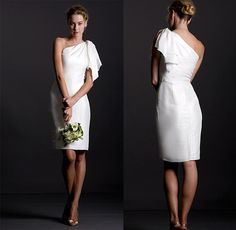 jenny yoo short wedding dress 2013.  Great justice of the peace or less formal wedding attire.