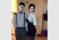 Black and White Costume, Greyscale, Silent Film Stars