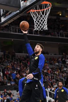 Klay Thompson of the Golden State Warriors warms up against the Los Angeles Lakers on October 12 2018 at SAP Center in San Jose California NOTE TO. Golden State Warriors Wallpaper, Warriors Memes, Best Nba Players, Curry Warriors, Christian Yelich, Dallas Mavericks, Oklahoma City Thunder, Nba Champions, Warriors