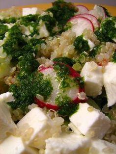 Cinco Quartos de Laranja: Salada de quinoa com azeite de coentros e salsa