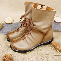 1111 Find More Women's Boots Information about Vintage Style Genuine Leather Women Snow Boots Flat Booties Soft Cowhide Women's Shoes Side Zip Ankle Martin Boots Zapatos Mujer,High Quality martin boots,China women snow boots Suppliers, Cheap snow boots from LeiShu E-Commerce Co., Ltd Store on Aliexpress.com