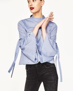 CROPPED SHIRT-View All-TOPS-WOMAN   ZARA United States