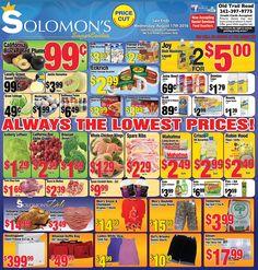 Solomon's Super Center Always the Lowest Prices!