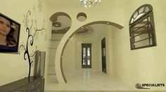 unit design With Partition Hall Room Design, Living Room Partition Design, Room Partition Designs, Tv Wall Design, Ceiling Design, Tv Wall Decor, Ceiling Decor, Entryway Decor, Tv Wand