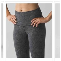 NWT Lululemon Wunder Under Pant Hi-Rise Highly popular pant in Heathered herringbone heathered black black.  Not available in stores or online.  Please see photos for complete description.  No trades please. lululemon athletica Pants Leggings