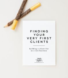 Finding your first clients as a small creative business. Tips from stationery designer, Sincerely, Jackie