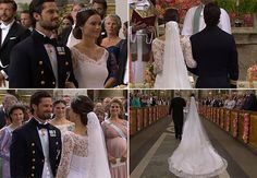Sofia Hellqvist arrived at Stockholm's royal chapel for her wedding to Prince Carl Philip of Sweden